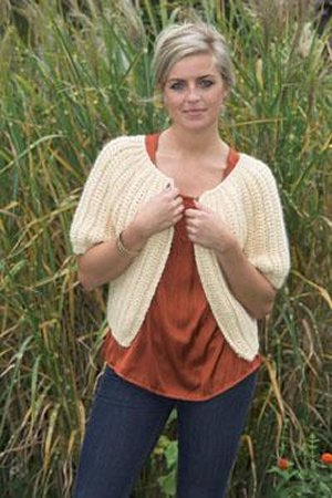 Plymouth Sweater & Pullover Patterns - 2029 Crochet Cropped Cardigan Pattern