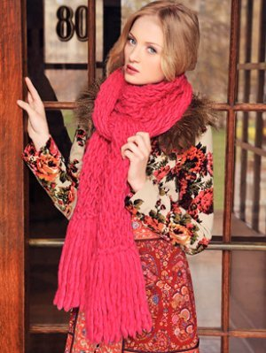 Blue Sky Fibers Bulky Trellis Scarf Kit - Scarf and Shawls