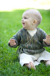 Koigu KPPPM Baby Wrap Sweater Kit - Baby and Kids Cardigans