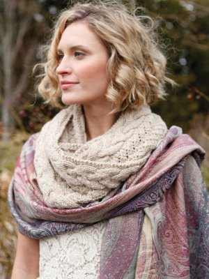 Berroco Blackstone Tweed Metallic Nyx Cowl Kit - Scarf and Shawls