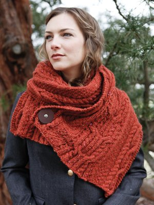Berroco Blackstone Tweed Tavis Cowl Kit - Scarf and Shawls