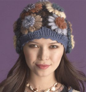 Cascade Heritage and New Kid Seta Flower Hat Kit - Crochet for Adults