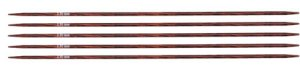 "Knitter's Pride Dreamz Double Point Needles - US 1.5 - 5"" (2.5mm) Burgundy Rose Needles"