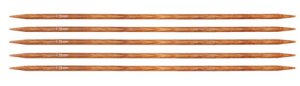 "Knitter's Pride Dreamz Double Point Needles - US 1 - 6"" (2.25mm) Orange Lily Needles"