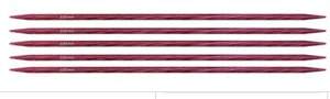 "Knitter's Pride Dreamz Double Point Needles - US 6 - 6"" (4.0mm) Fuchsia Fan Needles"