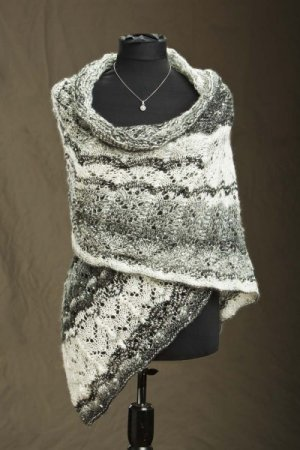 Rozetti Polaris Snow Evening Wrap Kit - Scarf and Shawls