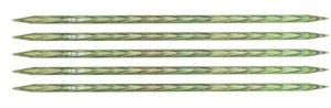 "Knitter's Pride Dreamz Double Point Needles - US 9 - 8"" (5.5mm) Misty Green Needles"