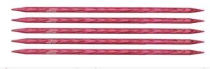 "Knitter's Pride Dreamz Double Point Needles - US 10 - 8"" (6.0mm) Candy Pink Needles"