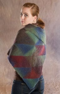 Wisdom Yarns Poem Sock Stained Glass Triangular Shawl Kit - Scarf and Shawls