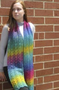 Wisdom Yarns Poems Sock Cascading Rainbows Scarf Kit - Scarf and Shawls