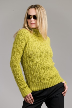 Karabella Boise Lace Turtleneck Sweater Kit - Women's Pullovers