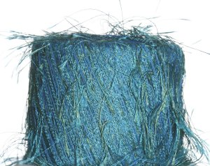 Knitting Fever Flutter Yarn - 47 Teal/Green