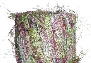 Knitting Fever Flutter Yarn - 56 Green/Purple/Magenta Multi