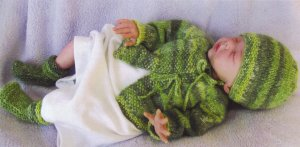 Knitting Pure and Simple Baby & Children Patterns - 0121 - Newborn Layette Pattern