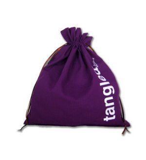 della Q Edict Cotton Pouch (Style 118-2) - Tangled String - Purple