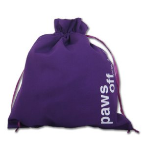 della Q Edict Cotton Pouch Style 118-2 - Paws Off - Purple
