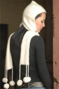 Misti Alpaca Best of Chunky Hooded Scarf Kit - Scarf and Shawls