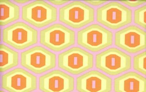 Amy Butler Midwest Modern Fabric - Honeycomb - Sand