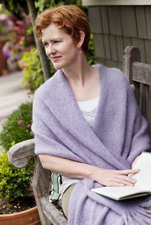 Churchmouse at Home Patterns - Simple Mohair Wrap & Afghan Pattern
