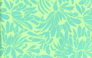 Amy Butler Daisy Chain Fabric - Daisy Bouquet - Turquoise