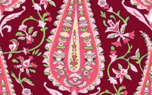 Amy Butler Love Fabric - Cypress Paisley - Wine