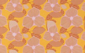Amy Butler Midwest Modern Fabric - Optic Blossom - Gold