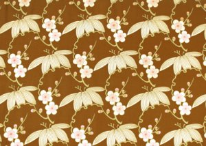 Amy Butler Midwest Modern Fabric - Trailing Cherry - Brown