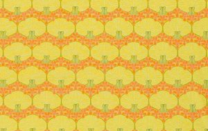 Amy Butler Midwest Modern Fabric - Nouveau Trees - Mustard