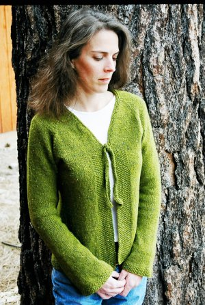 Knitting Pure and Simple Women's Cardigan Patterns - 0241 - Neckdown V Neck Shaped Cardigan Pattern