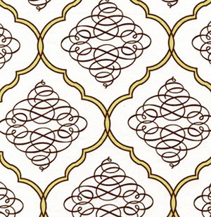 Dena Designs Leanika Fabric - Scroll - Ivory