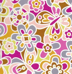 Erin McMorris Weekends Fabric - Kaleidoscope - Brown