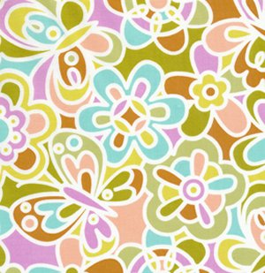 Erin McMorris Weekends Fabric - Kaleidoscope - Green