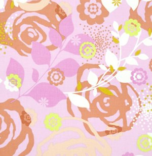Erin McMorris Weekends Fabric - Saturday - Pink