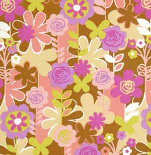 Erin McMorris Weekends Fabric - Garden Walk - Brown