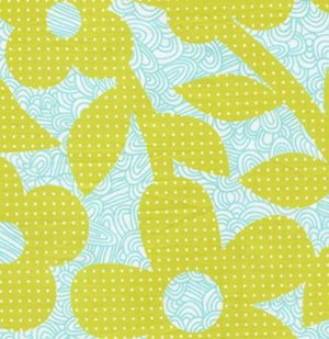 Erin McMorris Weekends Fabric - Dots and Loops - Lime