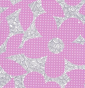 Erin McMorris Weekends Fabric - Dots and Loops - Violet