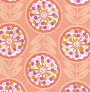 Erin McMorris Weekends Fabric - Lollies - Peach