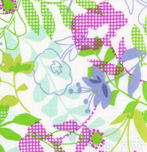 Erin McMorris Wildwood Fabric - Checked Floral - Grey