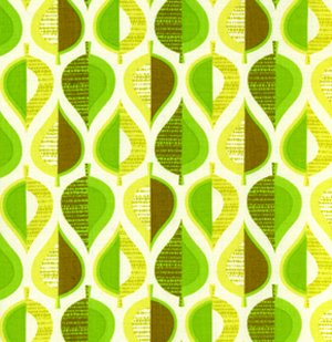 Erin McMorris Wildwood Fabric - Pressed Leaves - Green