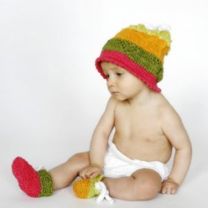 Be Sweet Bambino Taffy Sweetie Pie Hat and Booties Set Kit - Baby and Kids Accessories
