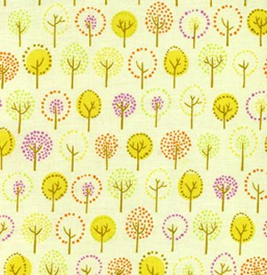 Erin McMorris Wildwood Fabric - Forest - Lime