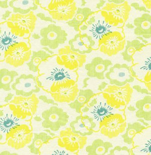 Heather Bailey Nicey Jane Fabric - Wash Day Ticking - Dandelion