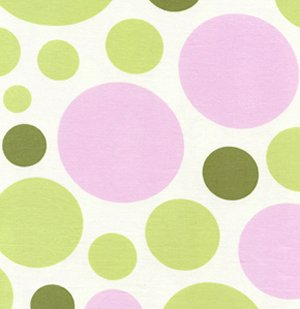 Heather Bailey Nicey Jane Fabric - Dream Dot - Celery