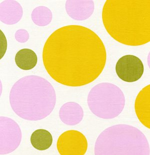 Heather Bailey Nicey Jane Fabric - Dream Dot - Clementine