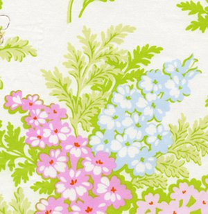 Heather Bailey Nicey Jane Fabric - Picnic Bouquet - Cream