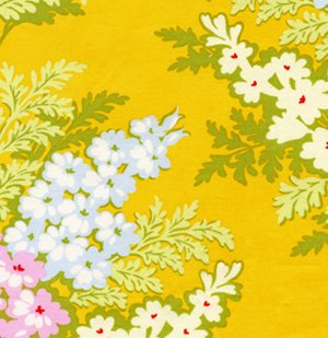 Heather Bailey Nicey Jane Fabric - Picnic Bouquet - Tangerine