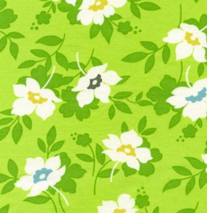 Heather Bailey Nicey Jane Fabric - Swing Toss - Grass