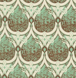 Tula Pink Parisville Fabric - Sea of Tears - Mint