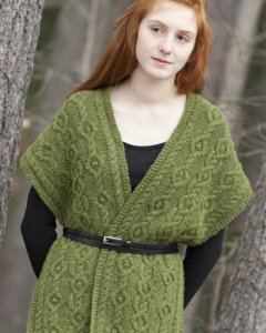 Classic Elite Portland Tweed Fern Leaf Scarf Kit - Scarf and Shawls