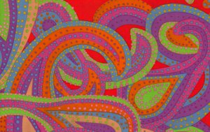 Brandon Mably Dancing Paisley Fabric - Bright